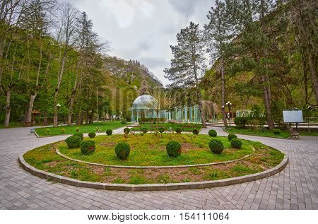 Famous Borjomi Mineral Water Streams in Georgia