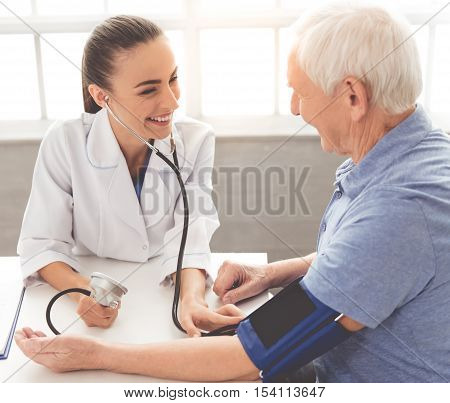 Beautiful Doctor And Patient