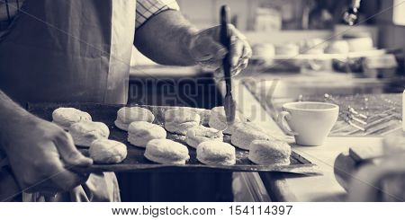 Man Apron Cooking Baking Bakery Concept