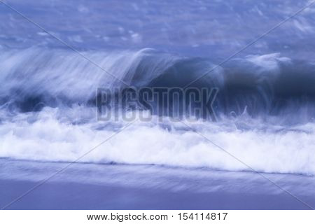 Crashing Waves In The Evening