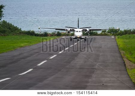 Plane Landing On A Small Runway