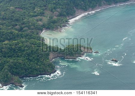 Aerial View Of The Pacific Coast Of Costa Rica