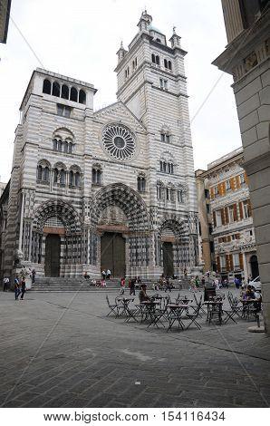 20 september 2014-genoa-italy- The beautiful cathedral city of Genoa italy