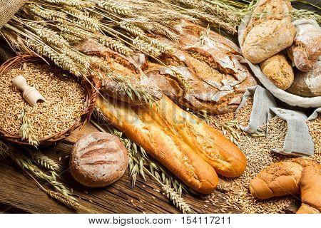Rural Baker Pantry With All Kinds Of Breads