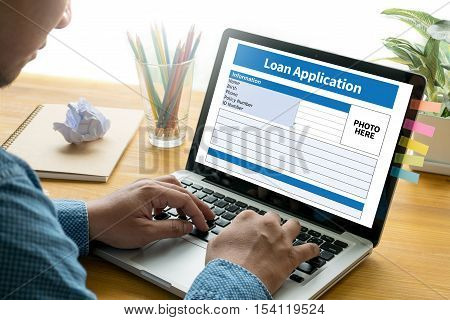 Loan Financial Application Form Filling The Form Of Business Credit Application