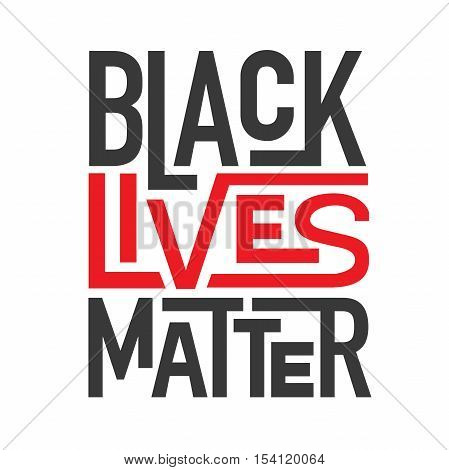 Red and Black Lives Matter Typography Illustration