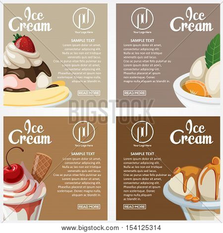 This design is suitable Affixed to the wall as a display of an ice cream parlor