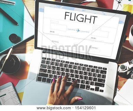 Online Flight Booking Interface Concept