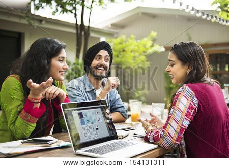 Indian Ethnicity People Interacting Concept