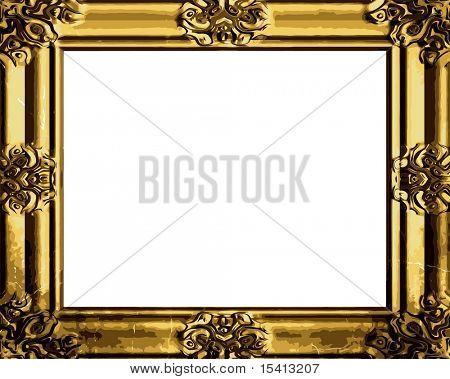 Vector Decorative Antique Gold Frame, See Jpeg Also In My Portfolio