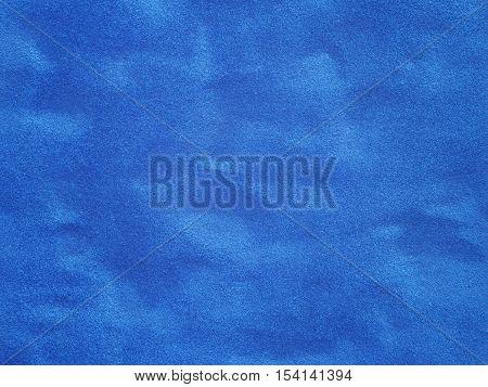 Close up surface of blue velvet textured background