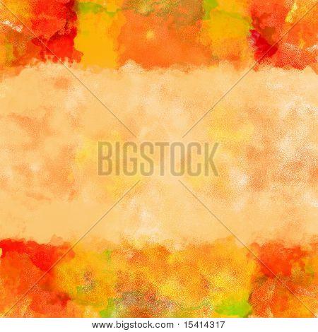 XL Colorful Watercolor Art Border