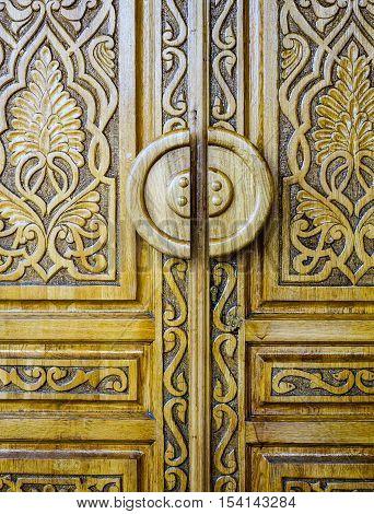 Wooden Door In Moscow, Russia