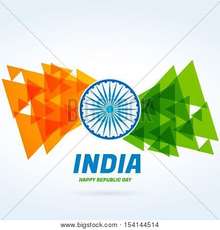 Abstract Indian Flag Design Vector Design Illustration