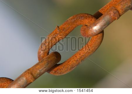 Close Up Of Weathered Chain Links