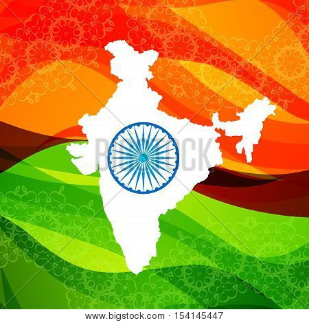 Map Of India Poster Vector Design Illustration