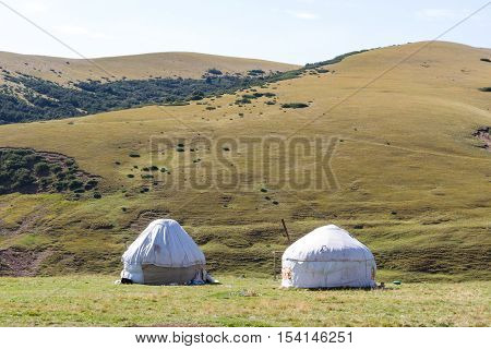 Yurt In The Mountains Of Kazakhstan
