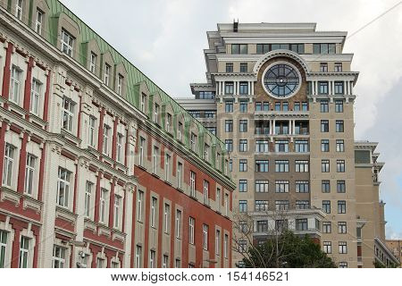 Fragment of houses in Golutvinsky lane and Bolshaya Yakimanka, Moscow