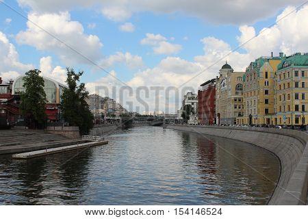 Moscow River and Yakimanskaya embankment , Russia
