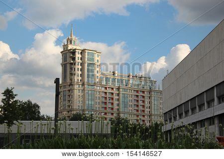 Fragment of house 8/10 3rd Golutvinsky alley and house 22 Bolshaya Yakimanka, Moscow