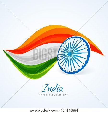 Indian Flag Abstract Design Vector Design Illustration