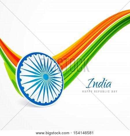 Indian Republic Day Background Vector Design Illustration