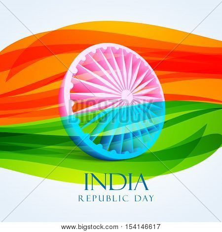 Republic Day Indian Flag Vector Design Illustration