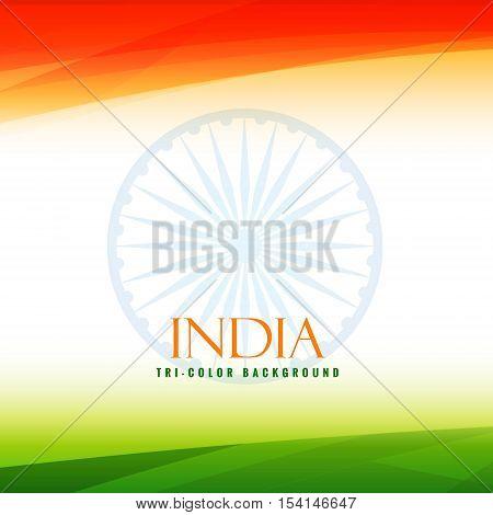 Indian Flag Tricolor Background Vector Design Illustration