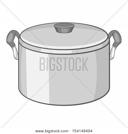 Saucepan icon. Cartoon illustration of saucepan vector icon for web