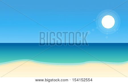 Landscape of beach collection stock flat vector