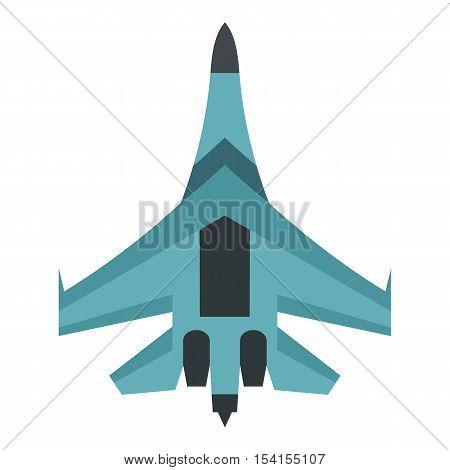 Quick military aircraft icon. Flat illustration of quick military aircraft vector icon for web