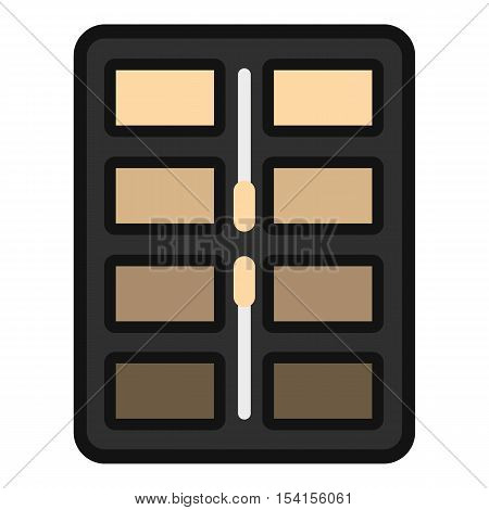 Great palette eye shadow icon. Flat illustration of great palette eye shadow vector icon for web