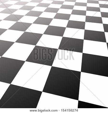 Illustration background. Chess board. 3d render. background,