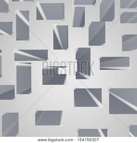 Illustration background. Shades on the plane. 3d render. background.