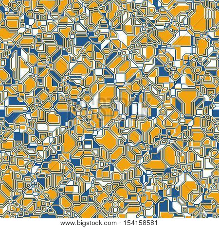 Seamless Abstract Pattern Technology Geometric Polygonal Background For Your Design