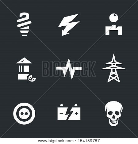 Lamp, lightning, switch, garden lantern, electric discharge, power lines, socket, battery, skull.