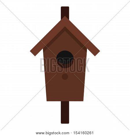Birdhouse icon. Flat illustration of birdhouse vector icon for web