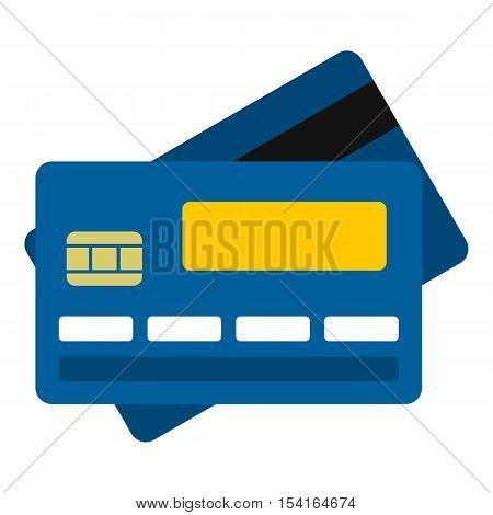Credit card icon. Flat illustration of credit card vector icon for web
