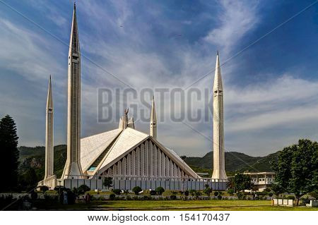 Faisal Mosque in Islamabad capital of Pakistan