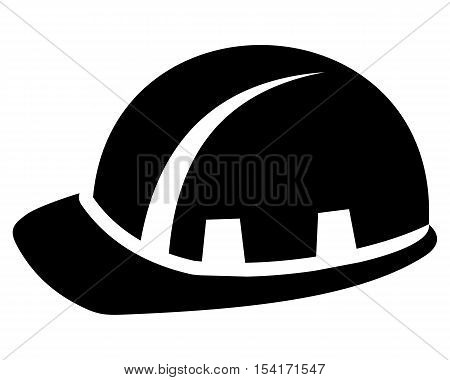 Builder Hardhat isolated protective white hat brown