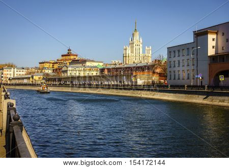 Ozerkovskaya Embankment of Bypass Canal in downtown Moscow, Russia