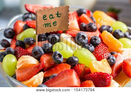 Enjoy your healthy salad with berry fruits