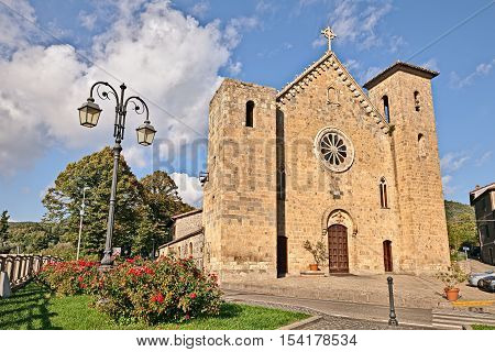 Bolsena, Viterbo, Lazio, Italy: medieval catholic church of San Salvatore in the ancient lakeside town