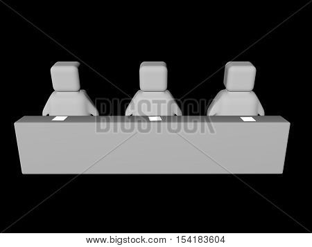 Image concept of the report in the audience. 3d render.