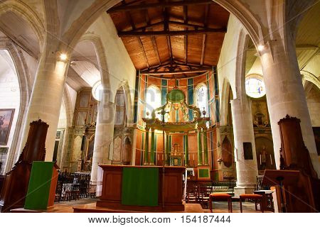 Saint Martin de Re France - september 25 2016 : the Saint Martin church