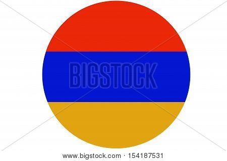 Armenia flag ,original and simple Armenia  flag circle illustration design