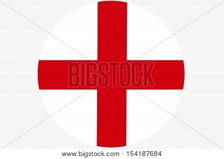 England flag ,Original and simple Republic of The England flag  circle illustration design