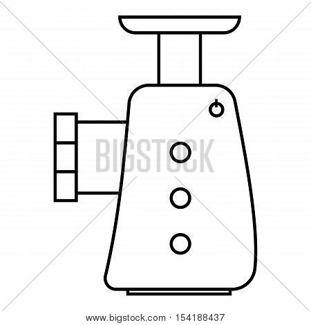 Electric grinder icon. Outline illustration of electric grinder vector icon for web