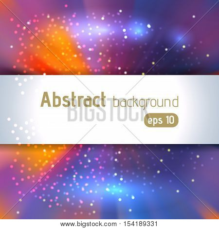 Vector Illustration Of Abstract Background With Blurred Magic Light Rays, Vector Illustration. Blue,
