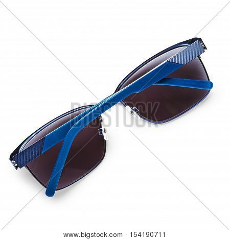 Modern black sunglasses isolated on white background. Object with clipping path